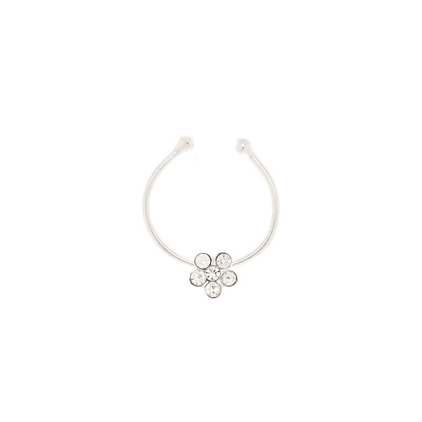 Claire's - sterling daisy stone faux cartilage earring - 2