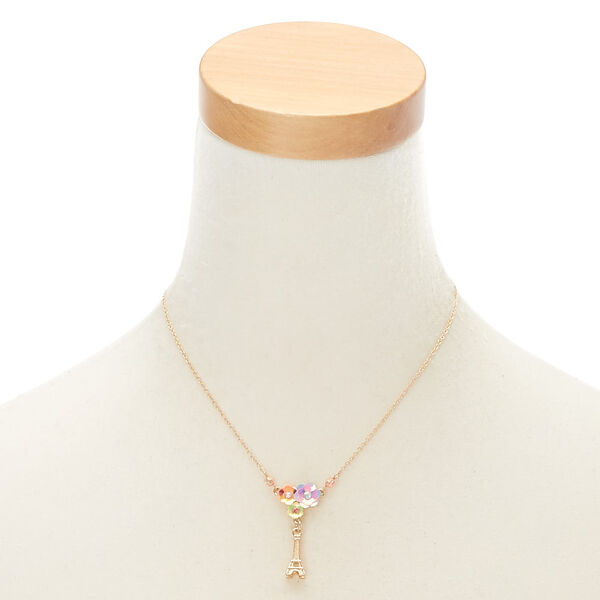 Claire's - holographic parisian pendant necklace - 2