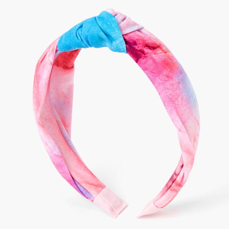 Blue & Purple Marble Print Twisted Headband,