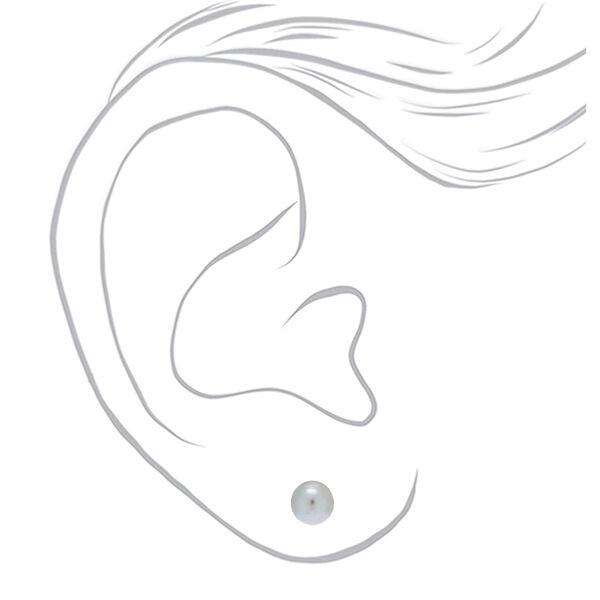Claire's - metallic pearl stud earrings - 2