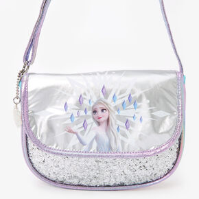 ©Disney Frozen 2 Glittery Crossbody Bag - Silver,