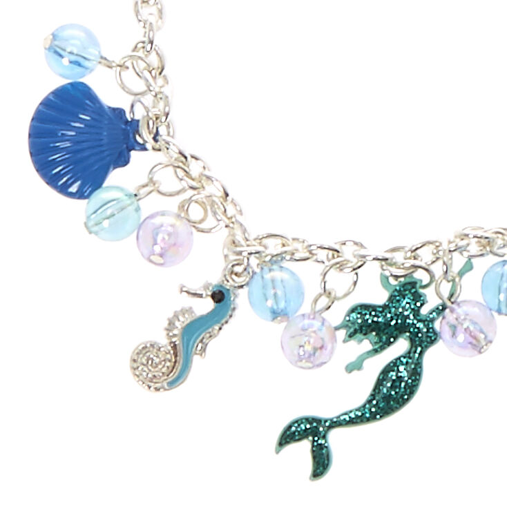 Silver Under The Sea Charm Bracelet - Blue,