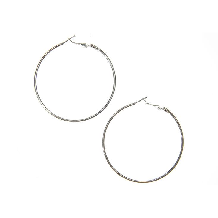 Silver 60MM Hoop Earrings,