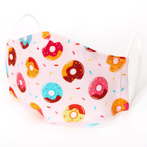 Cotton Pink Donut Face Mask - Child Medium/Large,