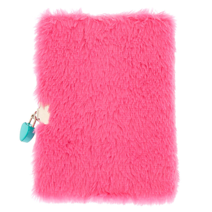 Miss Glitter the Unicorn Soft Lock Notebook - Pink,