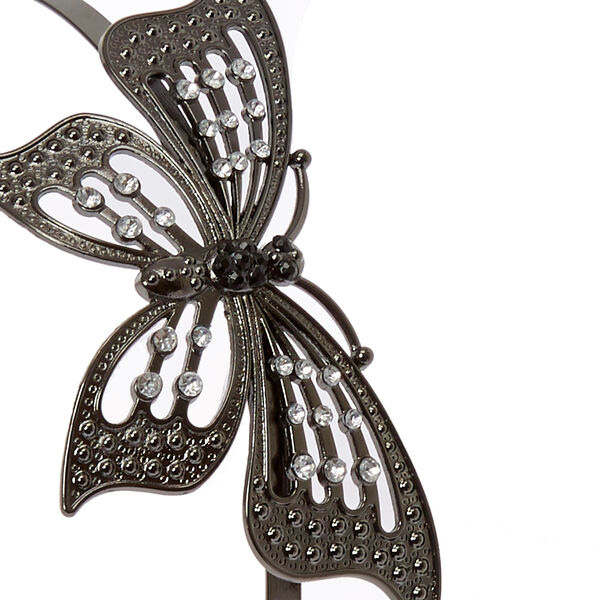 Claire's - hematite butterfly headband - 2
