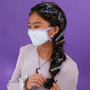 Galaxy Girl Face Mask Look,