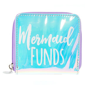 Iridescent Mermaid Funds Small Zip Wallet,