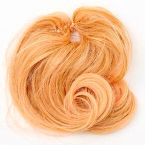 Extension en cheveux synthétiques pour chignon - Corail,