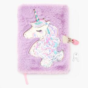 Unicorn Shakey Furry Lock Diary,