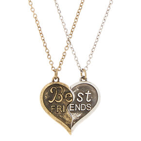 Best Friends Antique Pendant Necklaces - 2 Pack,