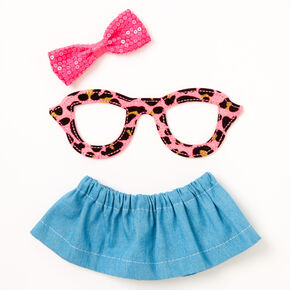 Leopard Glasses & Skirt Dress Your Diary Set - 3 Pack,