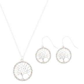 Silver Tree of Life Jewellery Set - 2 Pack,