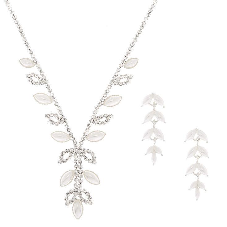 Silver Pearl Leaf Jewellery Set - 2 Pack,