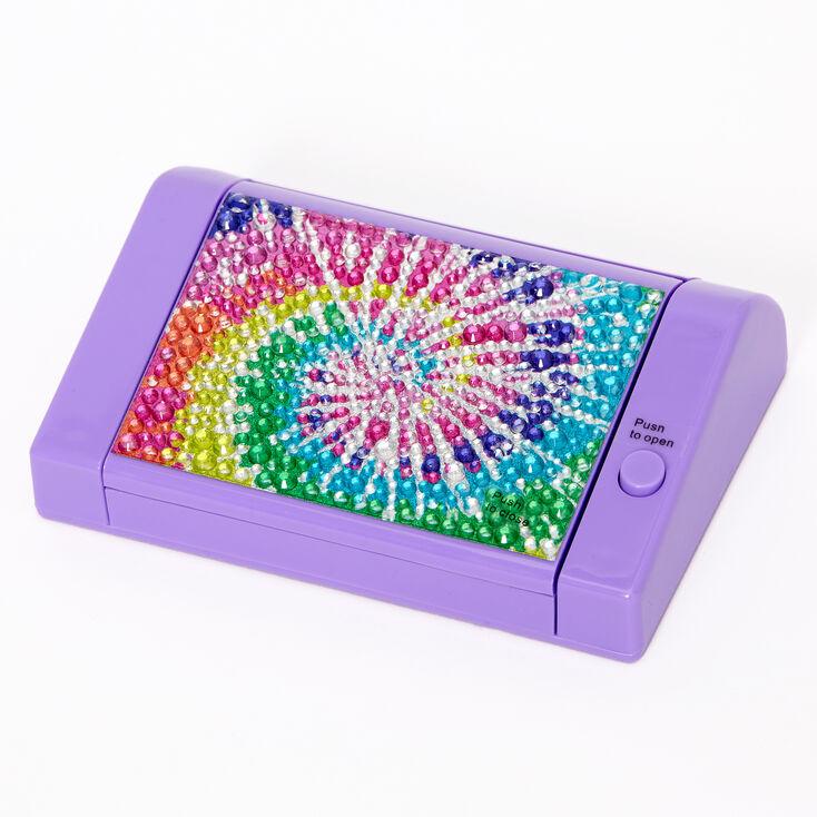 Rainbow tie Dye Bling Mechanical Bling Lip Gloss Set - Purple,