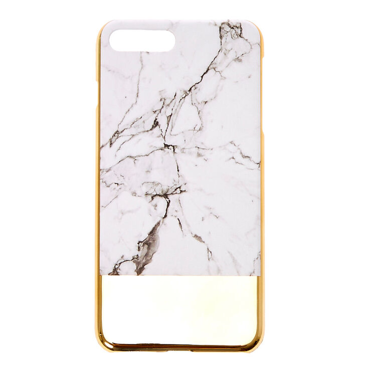 pretty nice 65637 c3ceb Marble Style & Gold Phone Case