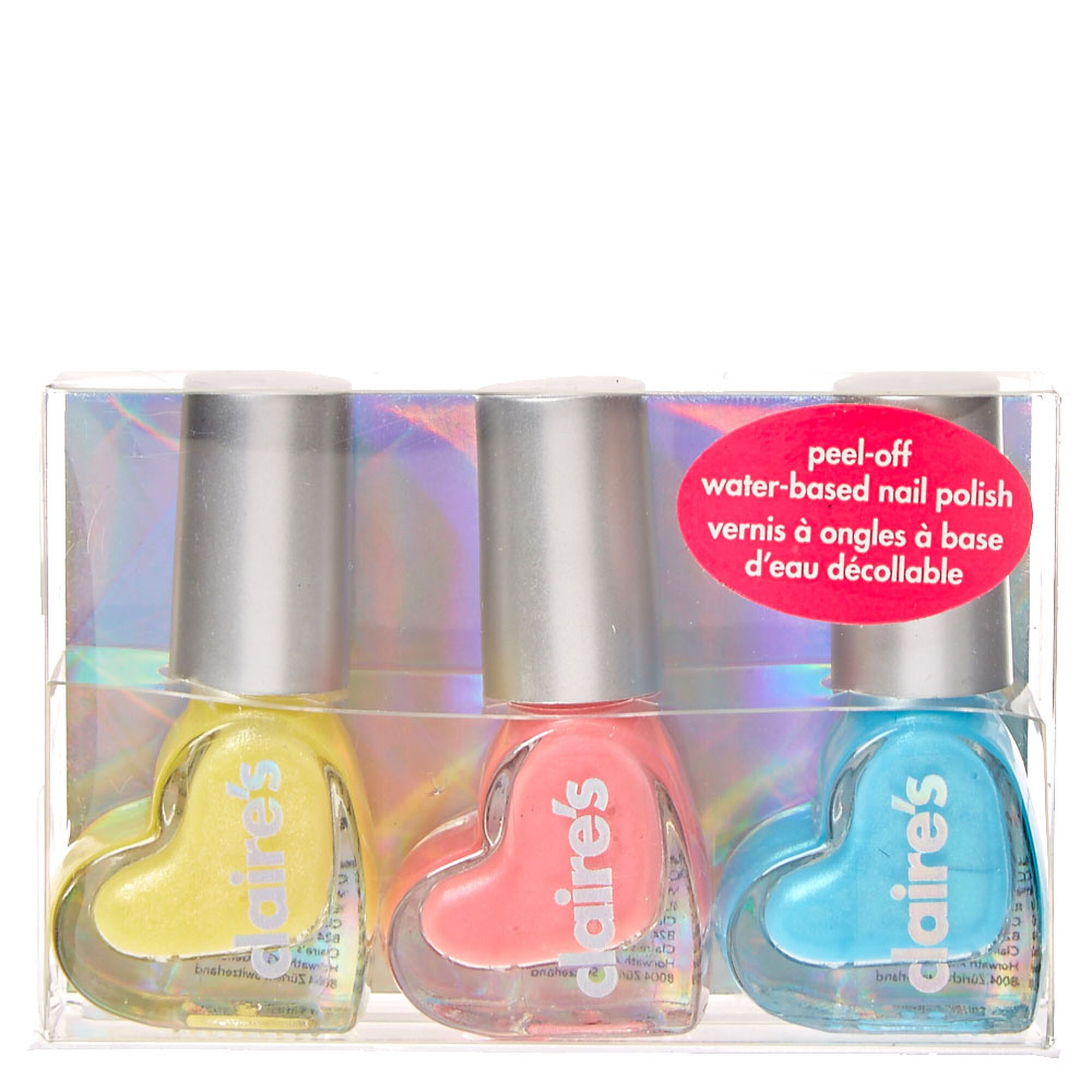 ShiMMer Heart Water Based Nail Polish Set | Claire\'s US