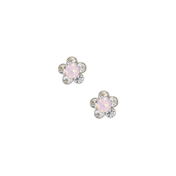 Claire's - sterling silver daisy stud earrings - 1