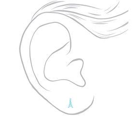 Eiffel Tower Stud Earrings - Mint,