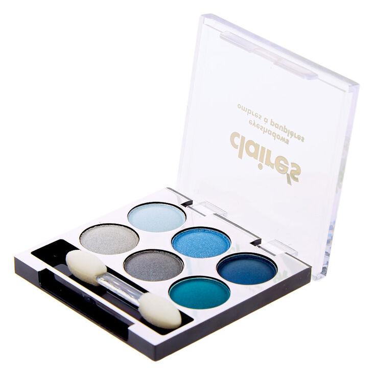Mini palette d'ombres à paupières bleues,