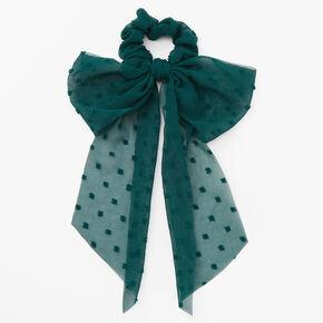Organza Bow Scarf Scrunchie - Green,