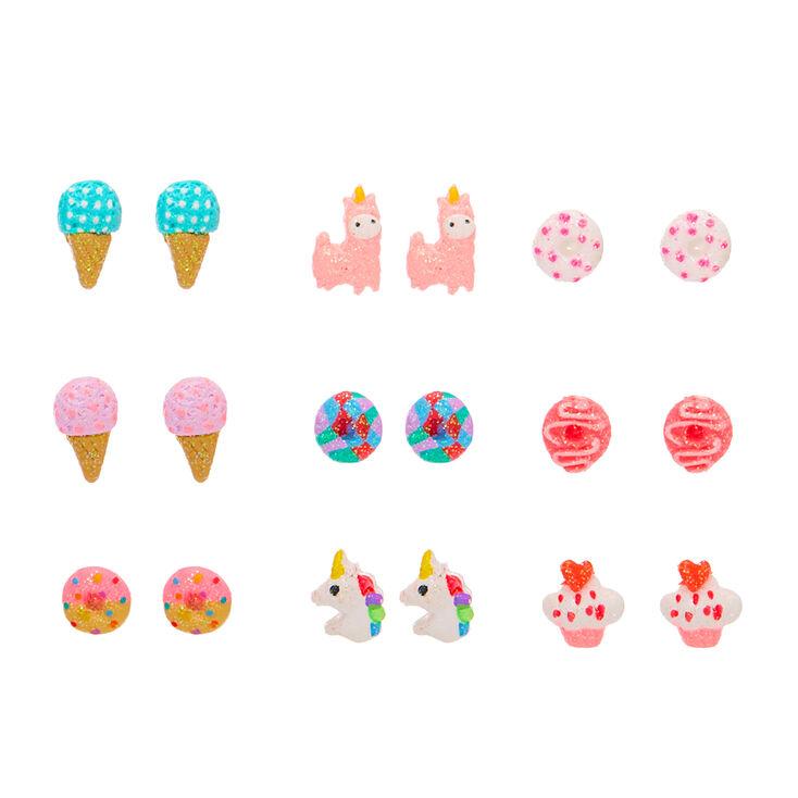 Super Sweetness Stud Earrings - 9 Pack,