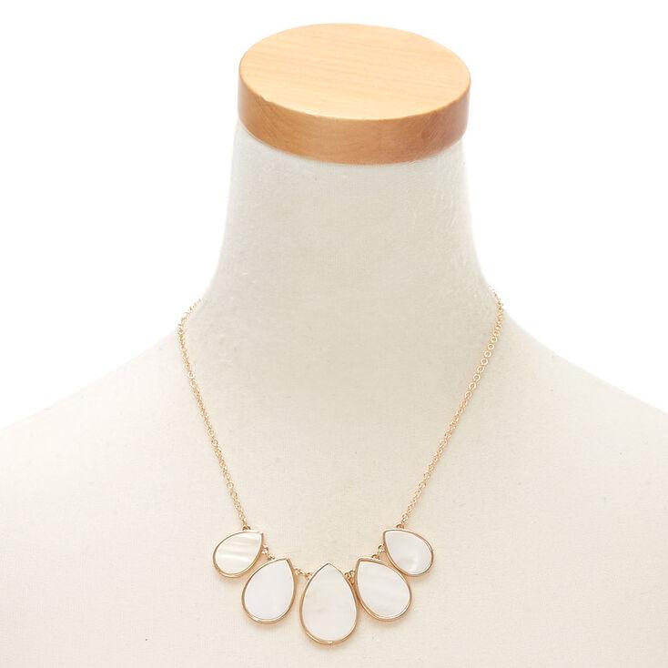 Gold Shell Teardrop Jewellery Set - White, 2 Pack,
