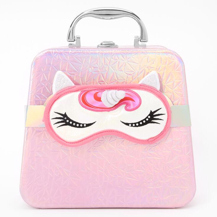 Holographic Travel Case Makeup Set - Pink Unicorn,