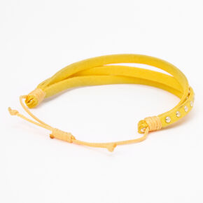 Gold Studded Adjustable Bracelet - Yellow,