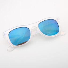 Claire's Club Iridescent Retro Sunglasses - Blue,