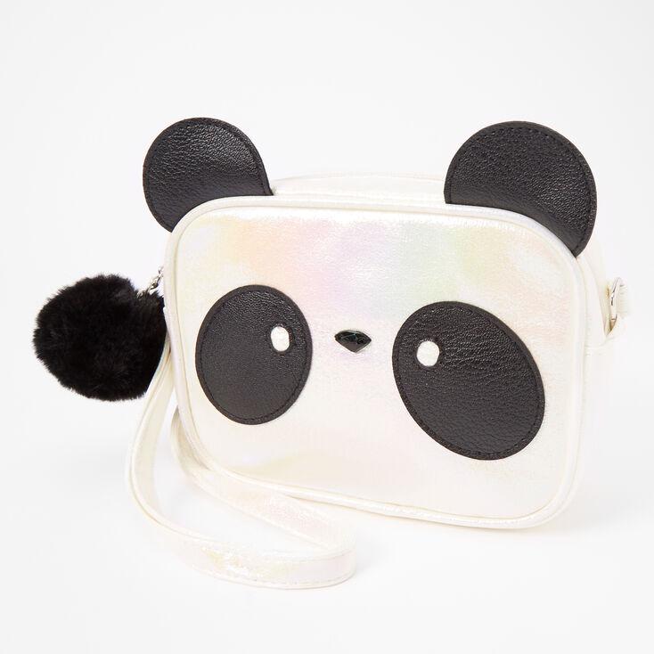 Panda Face Crossbody Bag - White,