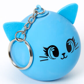 Cat Stress Ball Keychain - Blue,