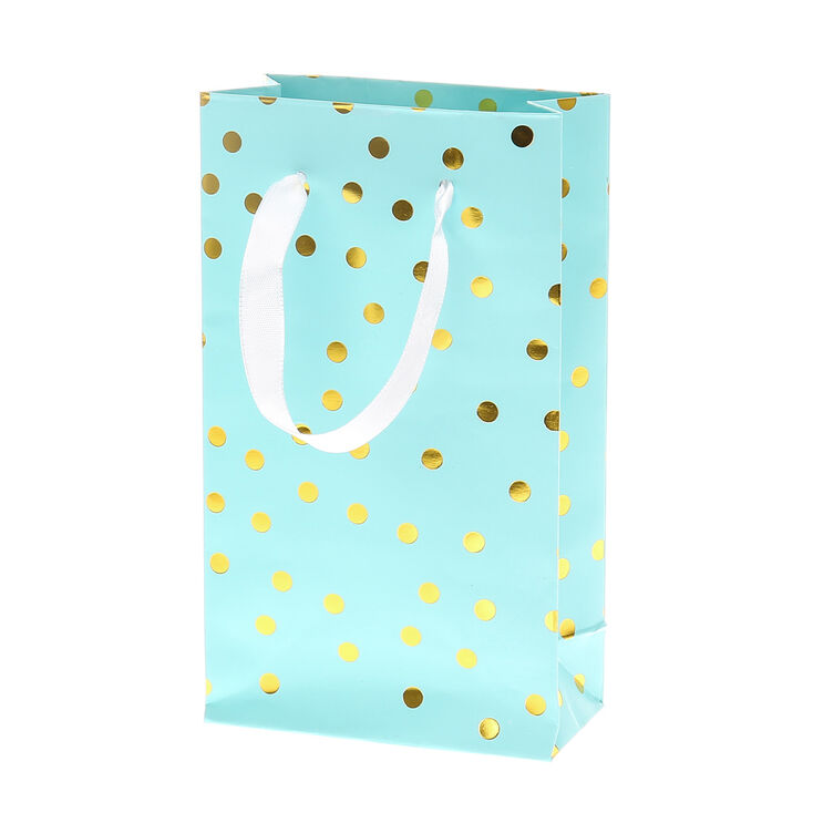 Best Mint Green and Gold Polka Dot Small Gift Bag | Claire's US DD89