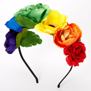 Rainbow Flower Headband,