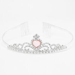 Claire's Club Silver Delicate Heart Tiara,