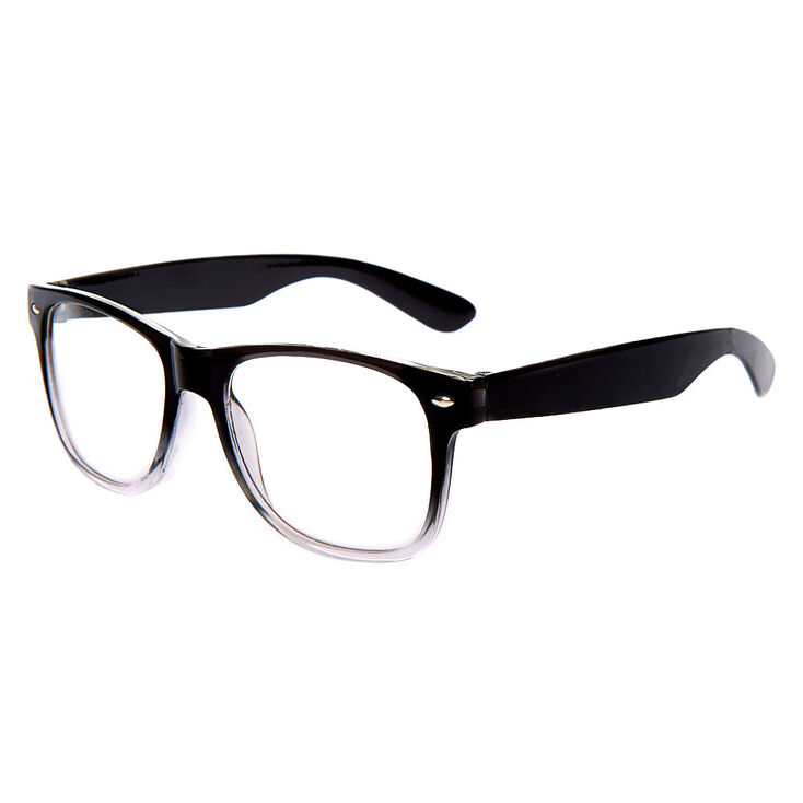 Ombre Retro Clear Lens Frames - Black,