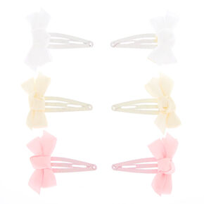 Claire's Club Bow Snap Hair Clips - 6 Pack,