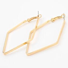 Gold 60MM Geometric Hoop Earrings,