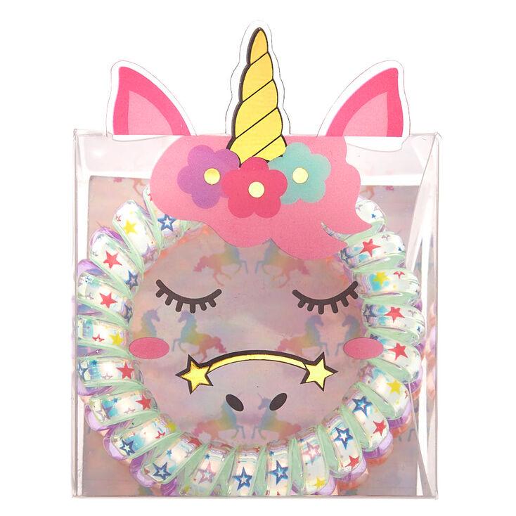 Claire's Club Unicorn Coil Bracelet Set - 3 Pack,