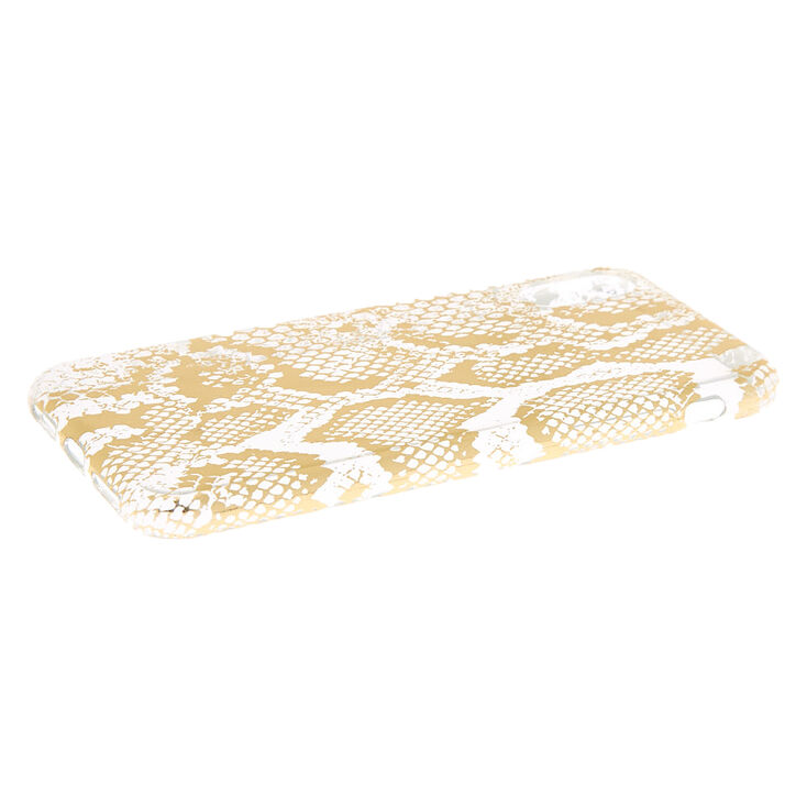 Gold Snake Skin Phone Case - Fits iPhone X/XS,