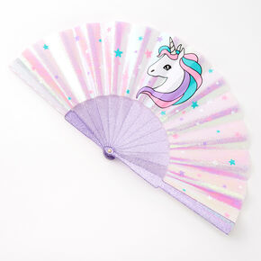 Claire's Club Lilac Unicorn Folding Fan,