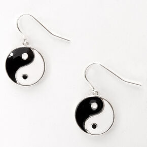 "Yin Yang 0.5"" Drop Earrings,"