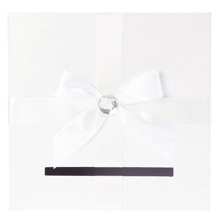 Boîte blanche pour cartes de mariage,