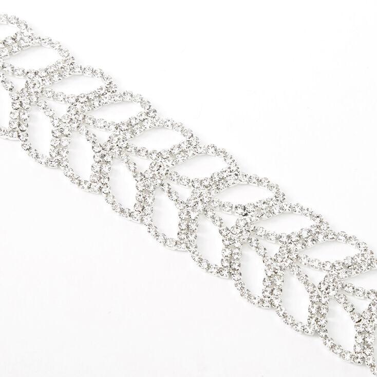Bracelet chaîne avec queue de sirène strass couleur argentée,