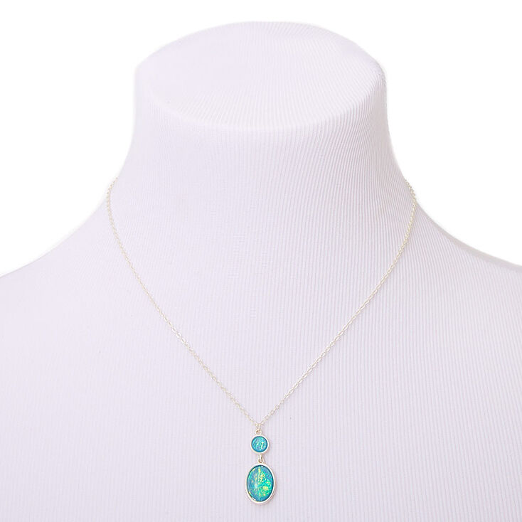 Silver Aquatic Pendant Necklace - Turquoise,