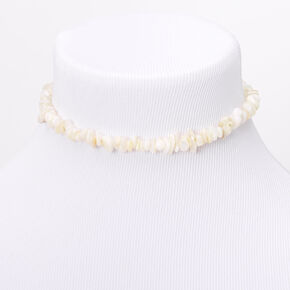 Puka Shell Choker Necklace - White,