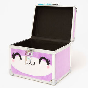 Furry Purple Cat Lock Box,