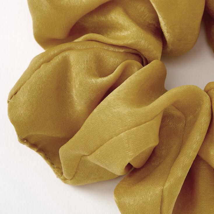 Giant Satin Hair Scrunchie - Mustard,