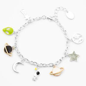 Silver Retro Outer Space Charm Bracelet,