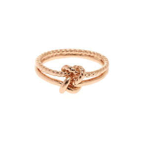 Rose Gold Knotted Ring,